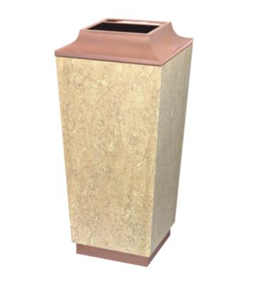 酒店大理石玫瑰金烟灰桶
