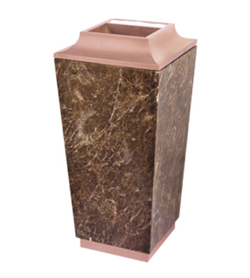 酒店大理石玫瑰金垃圾桶