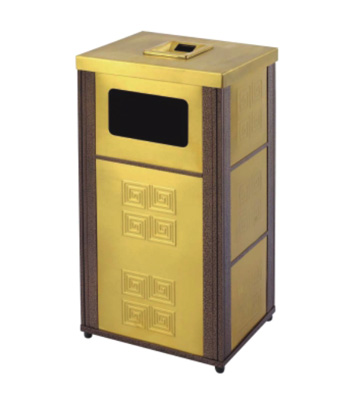 长形钛金果皮箱