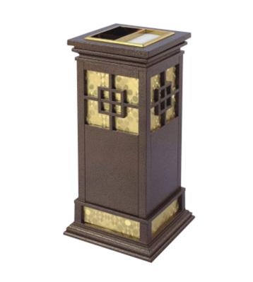 中式钛金烟灰垃圾桶