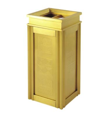 酒店四菱角钛金垃圾桶