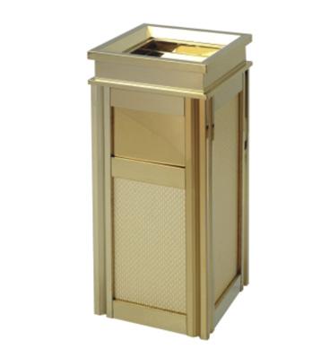四菱角酒店钛金垃圾桶