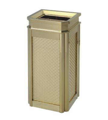 酒店靠墙式钛金垃圾桶