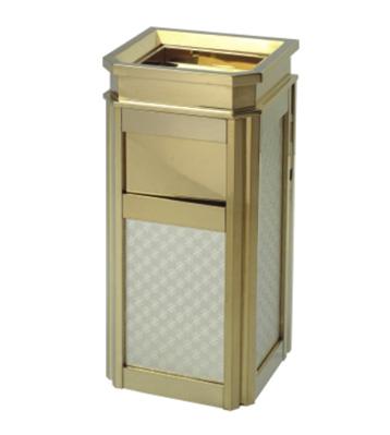 酒店靠墙式钛金果皮箱