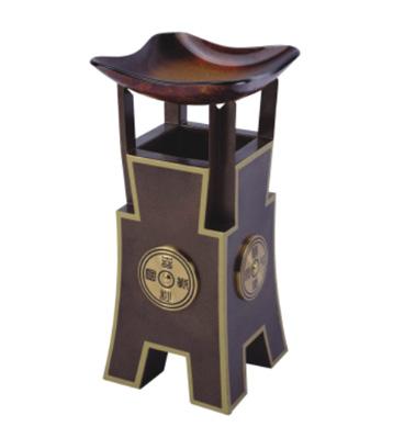 古铜烤漆酒店烟灰桶