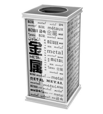钢化玻璃电梯口垃圾桶