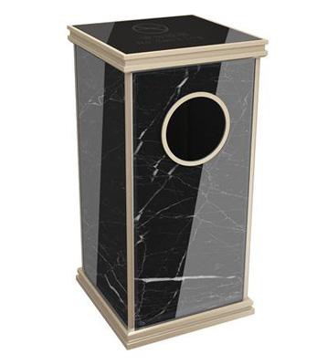 大理石电梯口垃圾桶