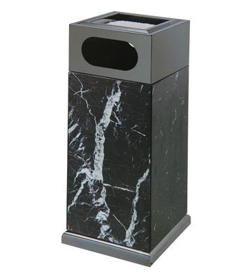 黑金大理石电梯口垃圾桶