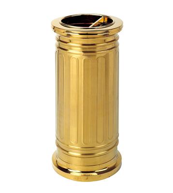 罗马柱钛金座地烟灰桶