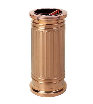 玫瑰金罗马柱垃圾桶