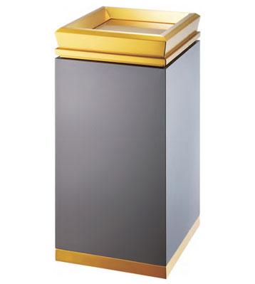 酒店电梯口钛金垃圾桶