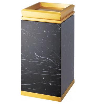 酒店大厅钛金垃圾桶