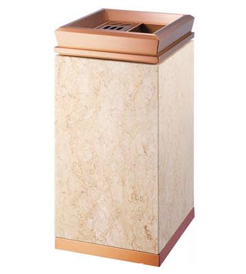 KTV带烟缸钛金垃圾桶