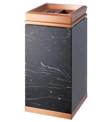 宾馆带烟缸钛金垃圾桶