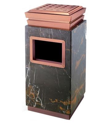 单桶座地钛金垃圾桶