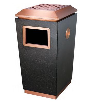 豪华大堂钛金垃圾桶