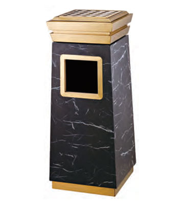 豪华宾馆钛金垃圾桶