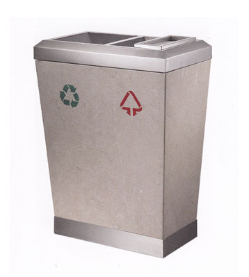 分类大理石钛金垃圾桶