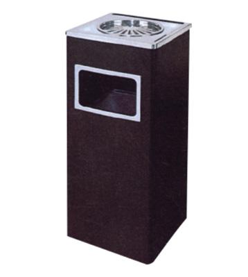 正方形菊花格铁皮垃圾桶