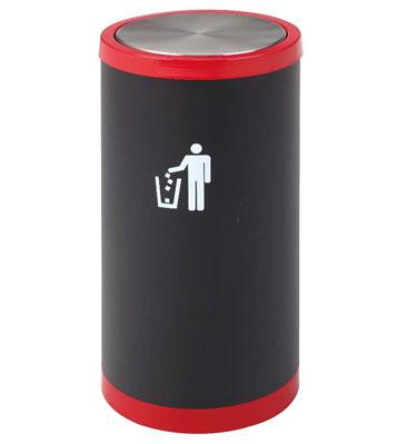 圆形金属烤漆垃圾桶