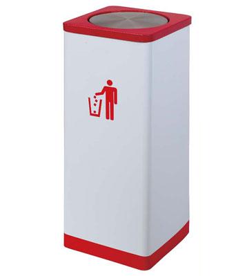 方形金属烤漆翻盖垃圾桶