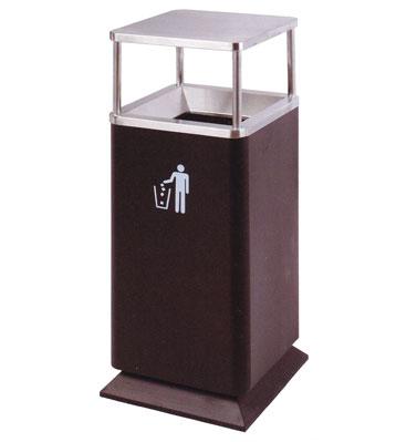 平盖不锈钢商场垃圾桶