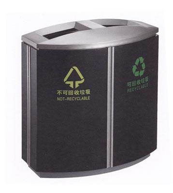 商业分类烤漆铁皮垃圾桶