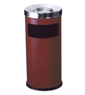 圆形斜盖铁皮垃圾桶