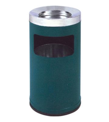 圆形高头斜口铁皮垃圾桶