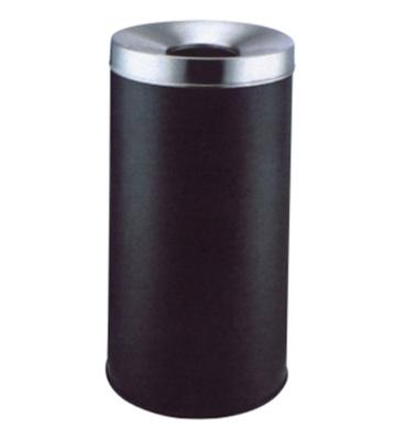 圆形斜口铁皮垃圾桶