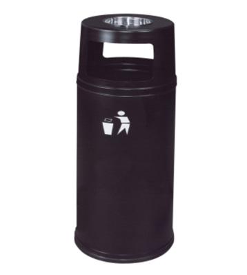 港式烤黑漆铁皮垃圾桶