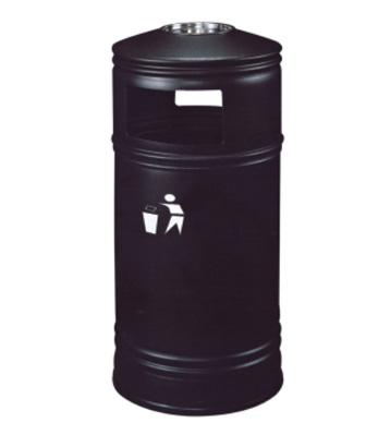 港式顶盖带烟灰缸铁皮垃圾桶