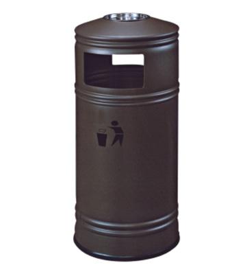 楼道顶盖带烟灰缸铁皮垃圾桶