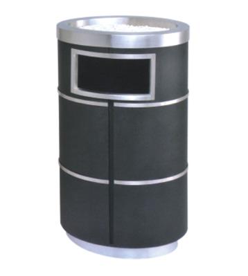 椭圆形铁皮垃圾桶