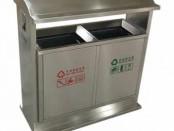 户外物业环保不锈钢分类垃圾桶