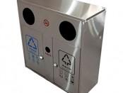 户外方形两分类不锈钢垃圾箱