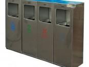 户外广场组合式不锈钢分类垃圾桶