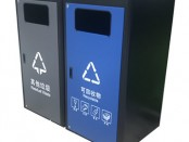深圳市政道路不锈钢分类垃圾箱体套桶桶罩
